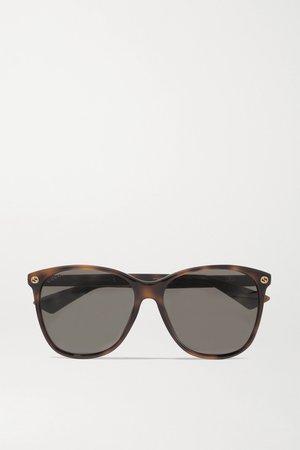 Tortoiseshell Round-frame tortoiseshell acetate sunglasses | Gucci | NET-A-PORTER