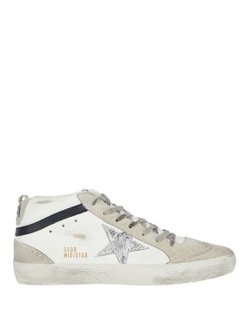 Golden Goose Mid Star Leather Sneakers   INTERMIX®