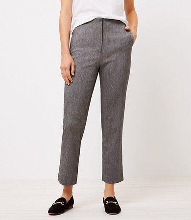 The Petite Textured High Waist Slim Pant