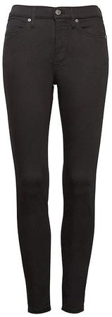 Petite High-Rise Legging-Fit Luxe Sculpt Stay Black Ankle Jean