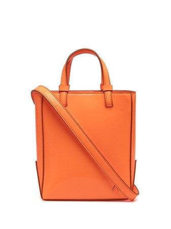 The Attico open-top leather tote bag - FARFETCH