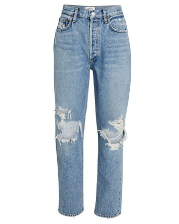 AGOLDE Fen Cropped Straight-Leg Jeans | INTERMIX®