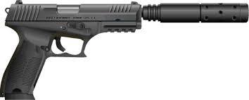 Gun with Suppressor