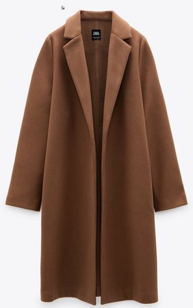 Zara camel colored coat