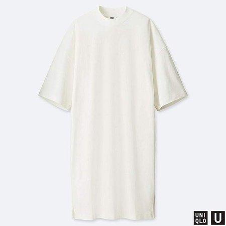 Women's U Oversize Half-sleeve T-Shirt Dress