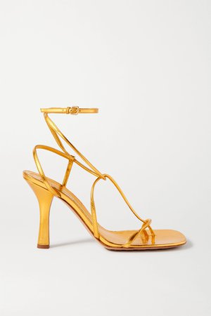 Gold Metallic leather sandals | Bottega Veneta | NET-A-PORTER