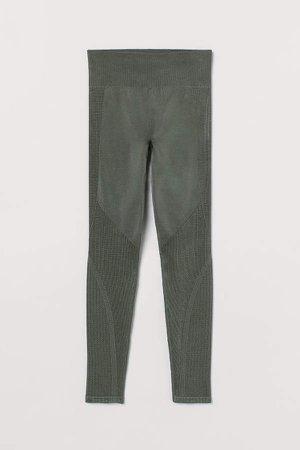 Seamless Sports Leggings - Green