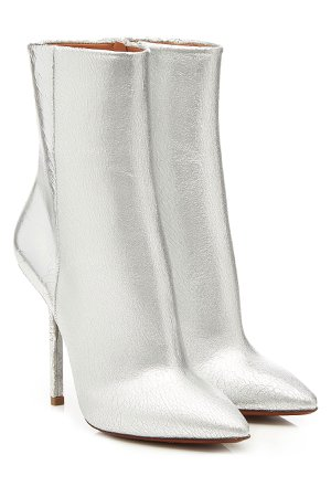 Metallic Leather Ankle Boots Gr. IT 40