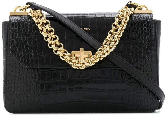 crocodile embossed crossbody bag