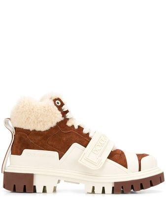 Dolce & Gabbana Shearling Trekking Boots Ss20 | Farfetch.com