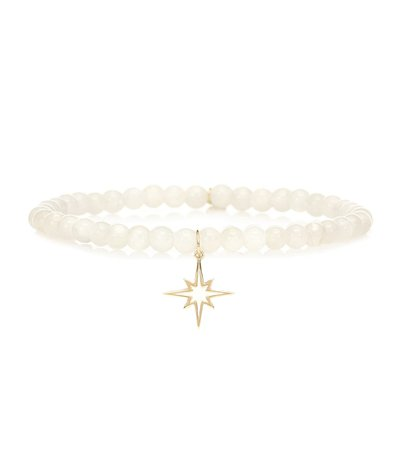 Exclusive To Mytheresa – Starburst 14Kt Yellow Gold And Moonstone Bracelet - Sydney Evan | Mytheresa