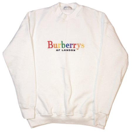 Vintage Burberry Rainbow Logo Spellout Crewneck
