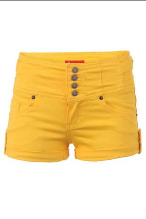 Yellow High Waisted Shorts