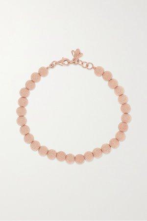 Rose gold Florentine 18-karat rose gold beaded bracelet   Carolina Bucci   NET-A-PORTER