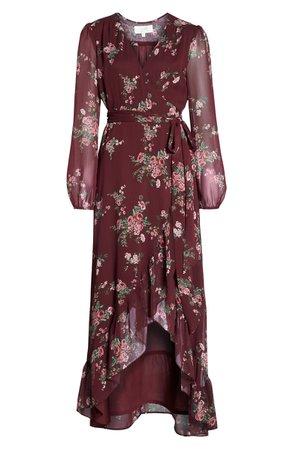 WAYF Meryl Long Sleeve Wrap Maxi Dress | Nordstrom