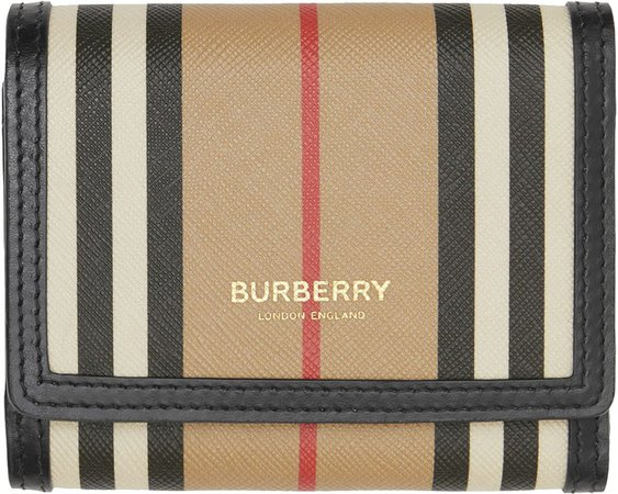 Lancaster Icon Stripe E-Canvas Wallet