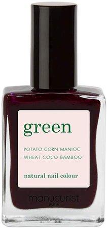Green Nail Lacquer - Hollyhock