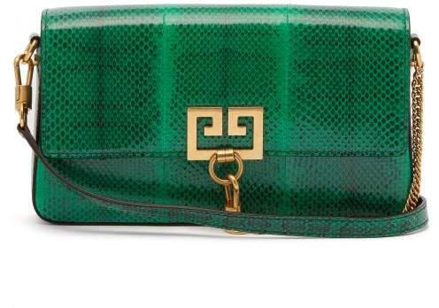 Charm Gv3 Ayers Snakeskin Shoulder Bag - Womens - Green