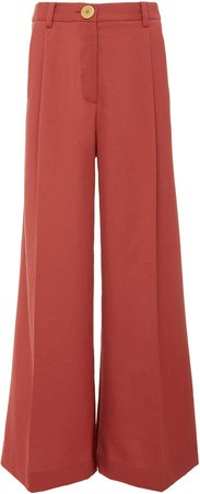 Two-Tone High Waisted Wide Leg Pants