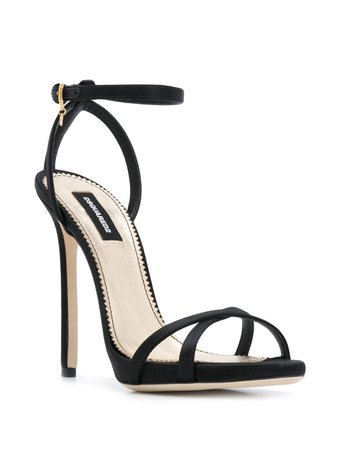 Black Dsquared2 Strappy Heeled Sandals | Farfetch.com
