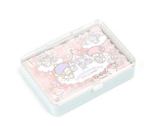 Little Twin Stars Mini Memo Pad in Case: Cotton Candy | Sanrio
