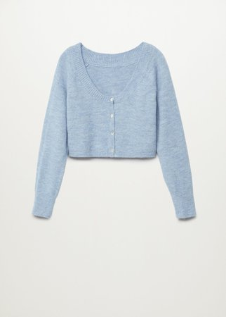 Knitted cropped cardigan - Women | Mango USA