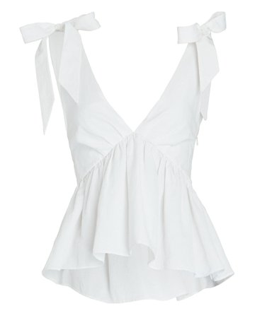 Brock Collection Poplin Bow Tank Top | INTERMIX®