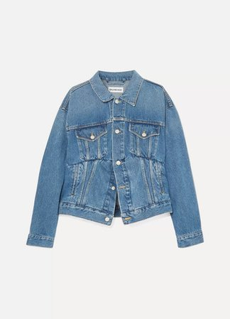 Oversized Denim Jacket - Blue