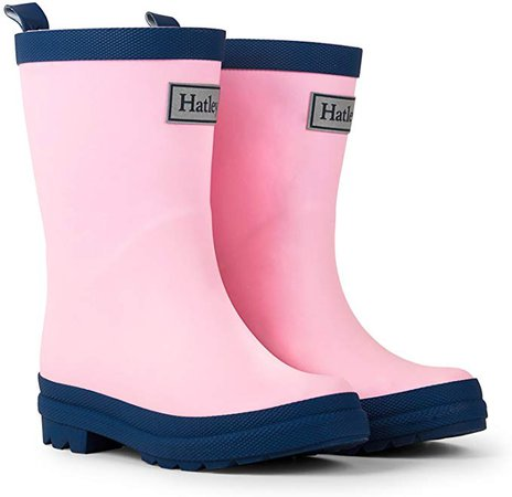 Amazon.com: Hatley Kids' Toddler Classic Rain Boots, Pink & Navy, 6 US Child: Clothing