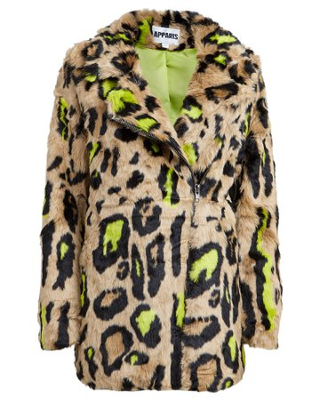 Chloe Leopard Faux Fur Coat