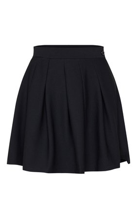 Black Pleated Tennis Skirt | PrettyLittleThing USA