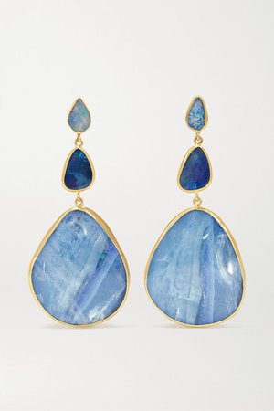 Pippa Small | 18-karat gold opal earrings | NET-A-PORTER.COM