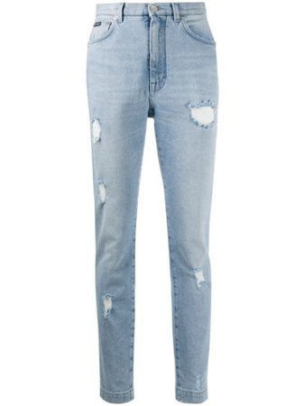 Dolce & Gabbana Distressed skinny-fit Jeans - Farfetch