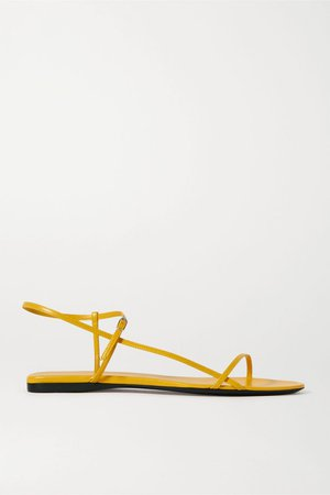 Yellow Bare leather sandals | The Row | NET-A-PORTER