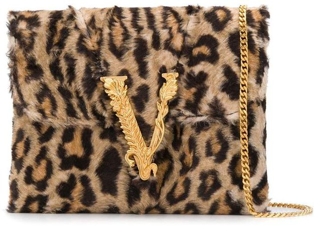 Virtus leopard print clutch