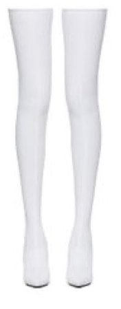 White High Knee Boots
