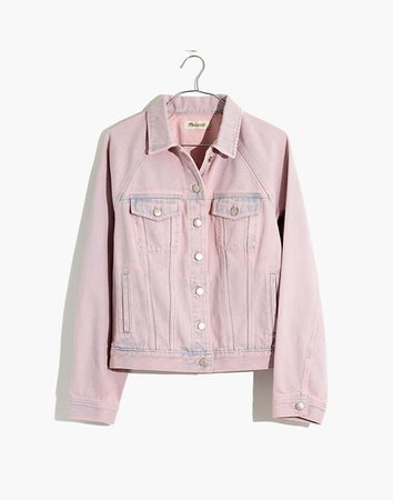 The Raglan Oversized Jean Jacket: Overdyed Edition lilac