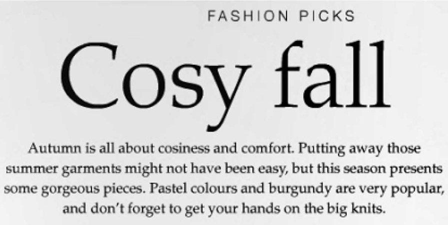 cosy fall