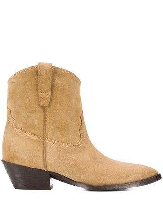 Saint Laurent Ankle Cowboy Boots - Farfetch