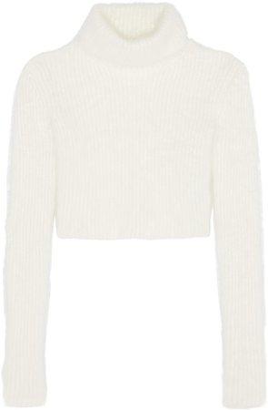 turtleneck crop top tee sweater