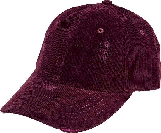 San Diego Hat Company Distressed Corduroy Baseball Cap