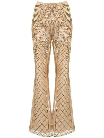 Zuhair Murad, sequin-embellished Flared Trousers Pants