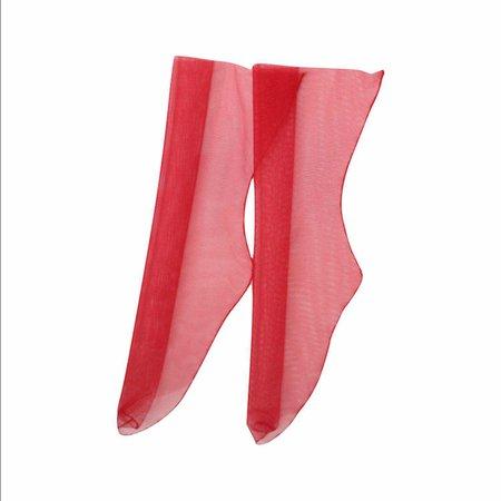 tulle red socks