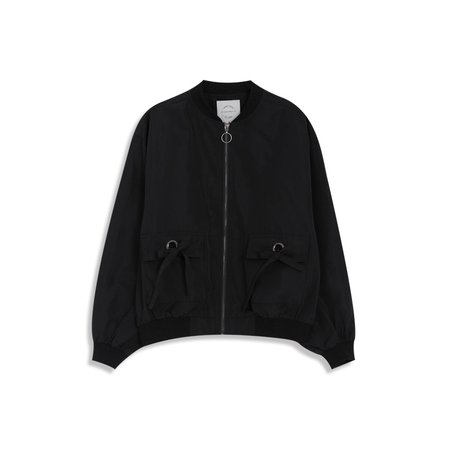 QUEEN SHOP - black bomber jacket