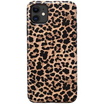 """Amazon.com: Hapitek iPhone 11 Case, iPhone 11 Marble Case, Slim Soft Flexible TPU Marble Floral Pattern Protective Cover for Apple iPhone 11 6.1"""" (Leopard B)"""