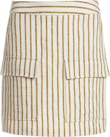 Matin Stripe Pocket Skirt