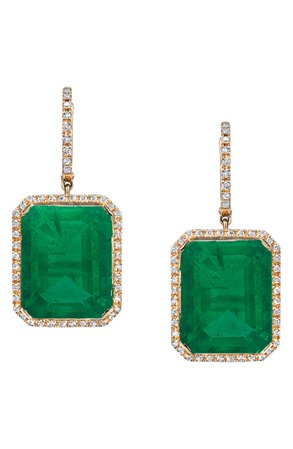 SHAY Portrait Gemstone Drop Earrings | Nordstrom