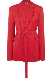 House of Holland | Oversized belted crepe blazer | NET-A-PORTER.COM