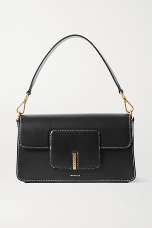 Georgia Leather Shoulder Bag - Black