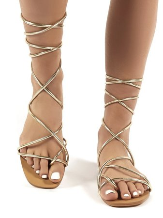 Flat Gold Strappy sandals